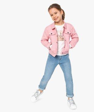 Veste fille en jean coloré - Lulu Castagnette vue5 - LULUCASTAGNETTE - GEMO