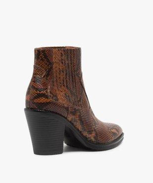 Boots femme style santiag à col élastiqué et bout pointu vue4 - Nikesneakers(URBAIN) - Nikesneakers