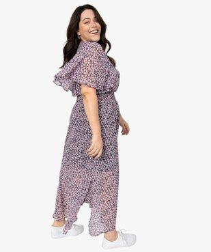 Robe femme imprimée longue avec taille smockée vue1 - GEMO (G TAILLE) - GEMO