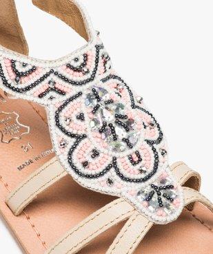 Sandales fille zippées ornées de perles et de strass vue6 - GEMO (ENFANT) - GEMO
