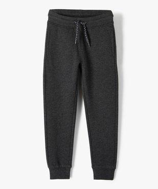 Pantalon de jogging garçon avec intérieur molletonné vue1 - GEMO (ENFANT) - GEMO