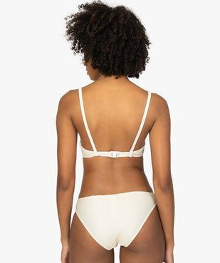 Haut de maillot de bain femme à rayures pailletées vue2 - GEMO (PLAGE) - GEMO