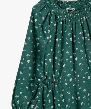 Robe fille en voile à manches longues et col smocké vue2 - Nikesneakers (ENFANT) - Nikesneakers