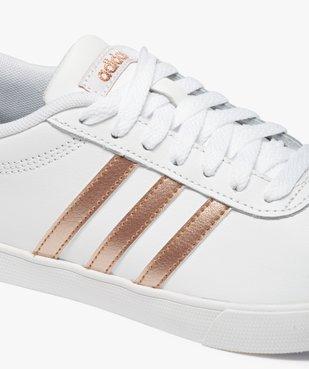 Baskets femme bicolores à lacets – Adidas Courtset vue6 - ADIDAS - Nikesneakers