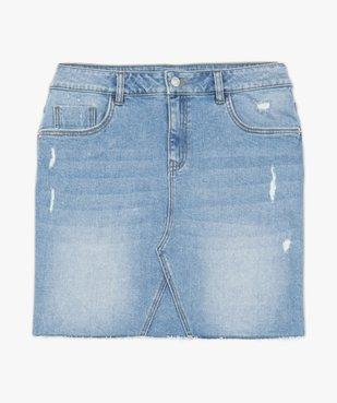 Jupe femme en jean avec marques d'usure vue4 - GEMO(FEMME PAP) - GEMO