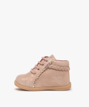 Chaussures premiers pas bébé fille irisées vue3 - Nikesneakers(BEBE DEBT) - Nikesneakers