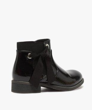 Boots fille unis tige vernie et ruban décoratif vue4 - Nikesneakers (ENFANT) - Nikesneakers