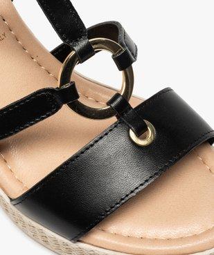 Sandales femme à talon compensé et anneau métallique vue6 - GEMO(URBAIN) - GEMO