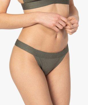 Bas de maillot de bain femme pailleté vue1 - GEMO (PLAGE) - GEMO