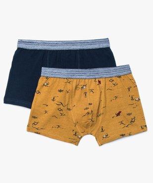 Lot de Boxer coton assortis avec ceinture chinée vue1 - GEMO (JUNIOR) - GEMO