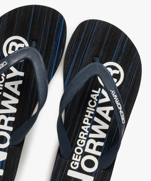 Tongs homme détails contrastés – Geographical Norway vue3 - GEOGRAPH NORWAY - GEMO