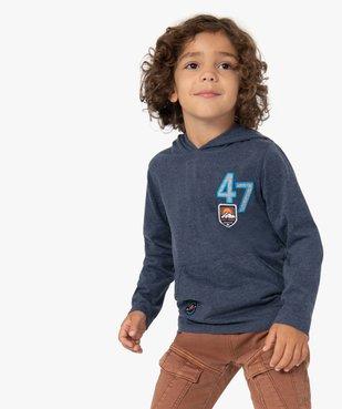 Tee-shirt garçon à manches longues et capuche vue1 - Nikesneakers (ENFANT) - Nikesneakers
