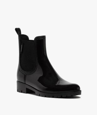 Boots de pluie femme style chelsea unis - Boatilus vue2 - BOATILUS - GEMO