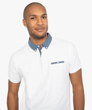 Polo homme avec col chemise contrastant vue2 - Nikesneakers (HOMME) - Nikesneakers