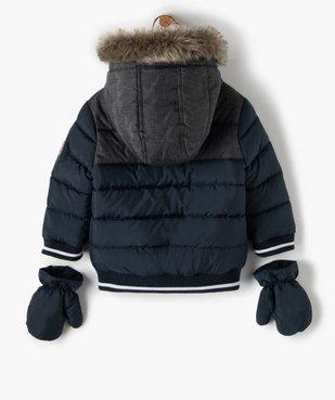 Blouson bébé garçon avec moufles amovibles - Lulu Castagnette vue5 - LULUCASTAGNETTE - GEMO