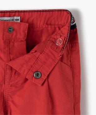 Pantalon bébé garçon en toile à pinces – Lulu Castagnette vue3 - LULUCASTAGNETTE - GEMO