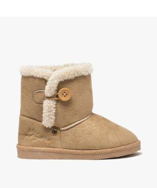 Boots fille en suédine à col fourré – LuluCastagnette vue1 - LULU CASTAGNETT - Nikesneakers