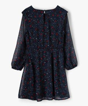 Robe fille imprimée à manches longues – Lulu Castagnette vue3 - LULUCASTAGNETTE - Nikesneakers