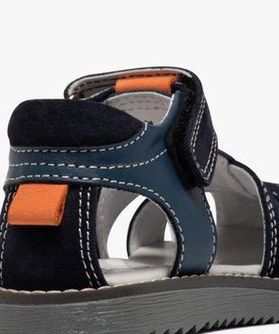 Sandales garçon à brides en cuir et fermeture scratch vue6 - Nikesneakers (ENFANT) - Nikesneakers