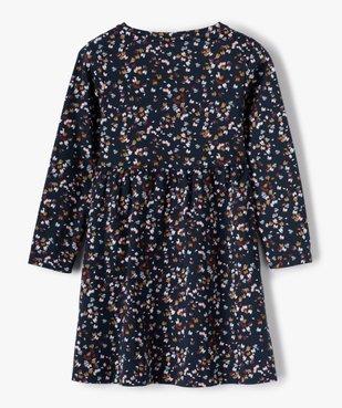 Robe fille à manches longues en maille à motifs fleuris vue3 - GEMO C4G FILLE - GEMO