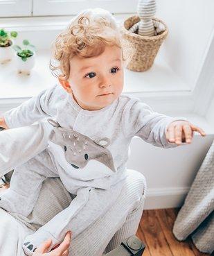 Pyjama bébé en velours motif renard vue6 - GEMO(BEBE DEBT) - GEMO