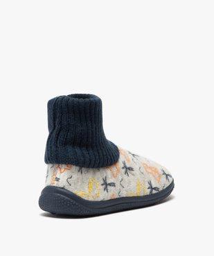 Chaussons garçon boots en velours et col chaussette vue4 - Nikesneakers C4G GARCON - Nikesneakers