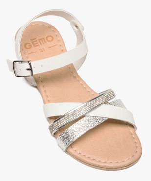 Sandales fille à brides strass et métallisées vue5 - GEMO (ENFANT) - GEMO