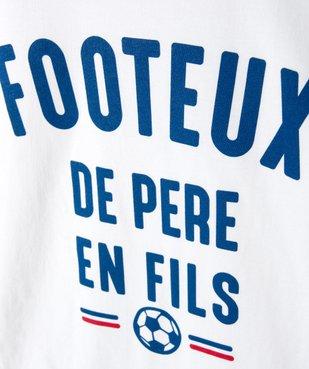 Tee-shirt garçon ado motif fantaisie football vue2 - SANS MARQUE - Nikesneakers