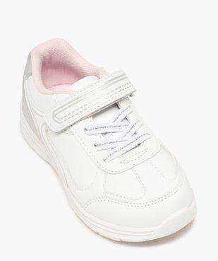Baskets fille bicolores avec fermeture scratch vue5 - GEMO (ENFANT) - GEMO
