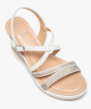 Sandales femme à talon compensé et strass vue5 - GEMO(URBAIN) - GEMO