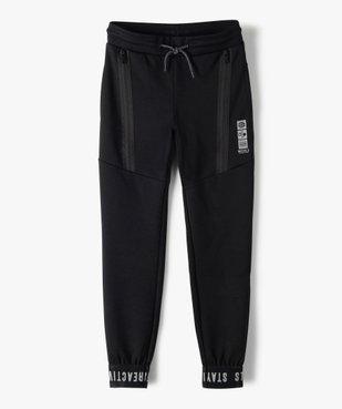 Pantalon de jogging garçon avec zips fantaisie sur l'avant vue2 - GEMO (ENFANT) - GEMO