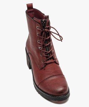 Boots femme unies à talon carré et zip décoratif vue5 - GEMO(URBAIN) - GEMO
