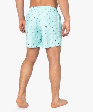 Short de bain homme à petits motifs palmiers vue3 - GEMO (PLAGE) - GEMO