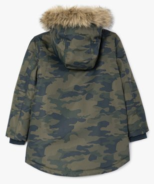 Parka garçon déperlante et multipoche à doublure chaude imprimé camouflage vue3 - Nikesneakers (ENFANT) - Nikesneakers