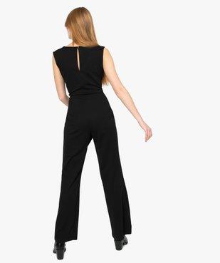 Combinaison pantalon femme avec décolleté en strass vue3 - Nikesneakers(FEMME PAP) - Nikesneakers