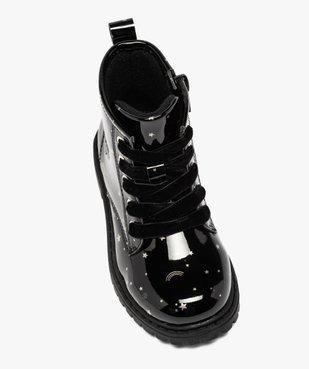 Boots fille à lacets et zip tige vernie et imprimée vue5 - GEMO (ENFANT) - GEMO