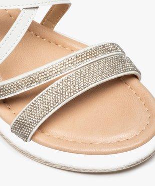 Sandales femme à talon compensé et strass vue6 - GEMO(URBAIN) - GEMO