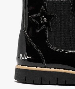 Boots fille chelsea vernies et zippées – LuluCastagnette vue6 - LULU CASTAGNETT - GEMO