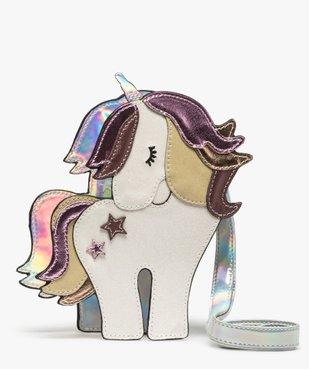 Sac fille multicolore à motif licorne  vue1 - GEMO (ENFANT) - GEMO