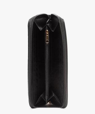 Portefeuille femme zippé au matelassage graphique vue3 - Nikesneakers (ACCESS) - Nikesneakers
