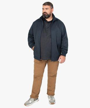 Pantalon homme coupe Straight en toile épaisse vue5 - GEMO (G TAILLE) - GEMO
