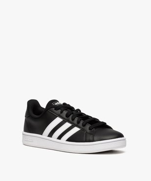 Baskets homme bicolores à lacets - Adidas Grand Court Base vue2 - ADIDAS - Nikesneakers