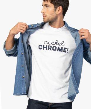 Tee-shirt homme avec inscription contrastante sur l'avant vue1 - GEMO (HOMME) - GEMO