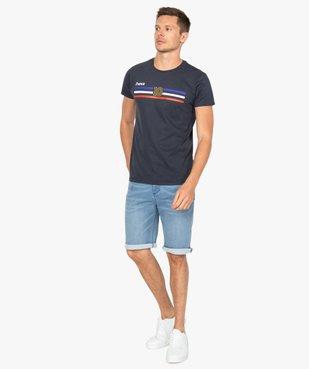 Tee-shirt homme à manches courtes imprimé football vue5 - GEMO C4G HOMME - GEMO