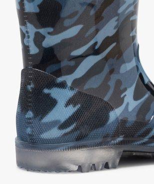 Bottes de pluie garçon motif camouflage vue6 - GEMO (ENFANT) - GEMO