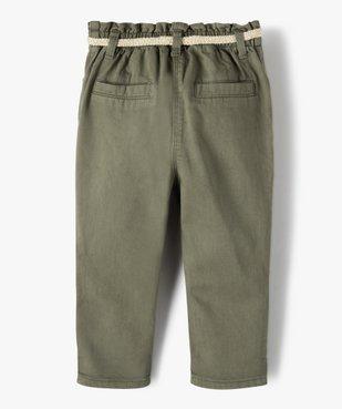 Pantalon bébé fille en toile avec ceinture tressée vue4 - GEMO(BEBE DEBT) - GEMO