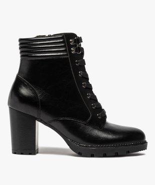 Boots femme à talon col rembourré et semelle crantée vue1 - GEMO(URBAIN) - GEMO