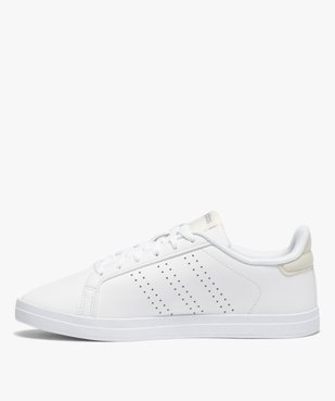 Baskets femme unies à lacets – Adidas Courtpoint Base vue3 - ADIDAS - Nikesneakers