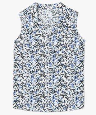 Blouse femme sans manches imprimée avec col chemise vue4 - GEMO(FEMME PAP) - GEMO