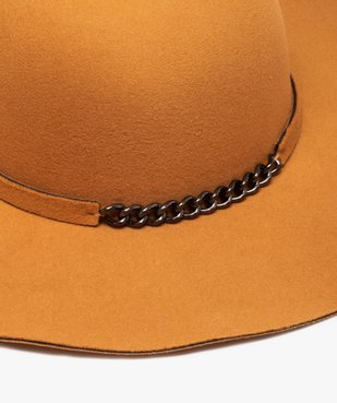 Chapeau femme forme capeline avec chaîne fantaisie vue2 - GEMO (ACCESS) - GEMO